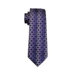 Men Tie Purple Geometric Neck Tie Silk Jacquard Ties For Men Business Wedding Party
