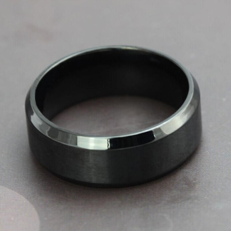 Men Ring the Punk Rock Stainless Steel Black Chain Rings for Men