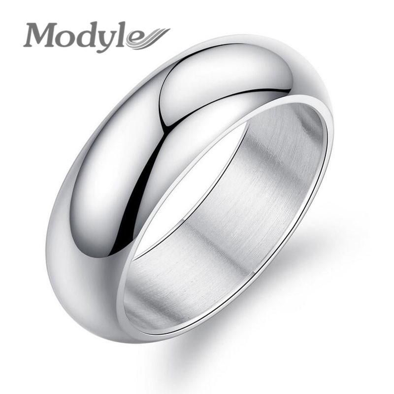 Classic Silver/Gold-Color Stainless Steel Wedding Rings for Women