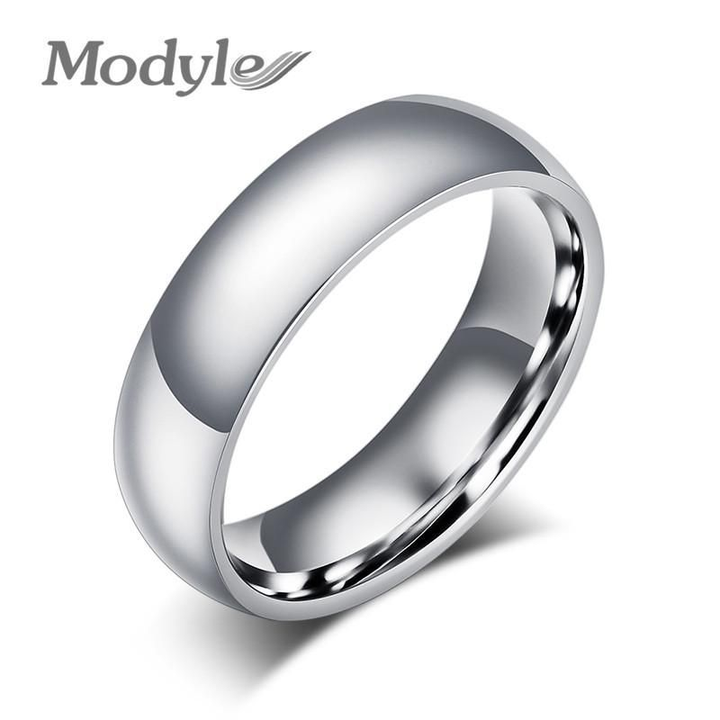 New Fashion Simple Classic Rings Stainless Steel Rings for Men and Women