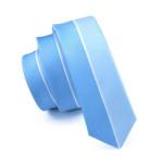 Classic Skinny Tie Light Blue Novelty Slim Neckwear 100% Silk Casual For Wedding Party Business