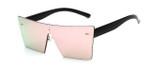 Summer Style Reflective Mirror Rimless Frame Sunglasses