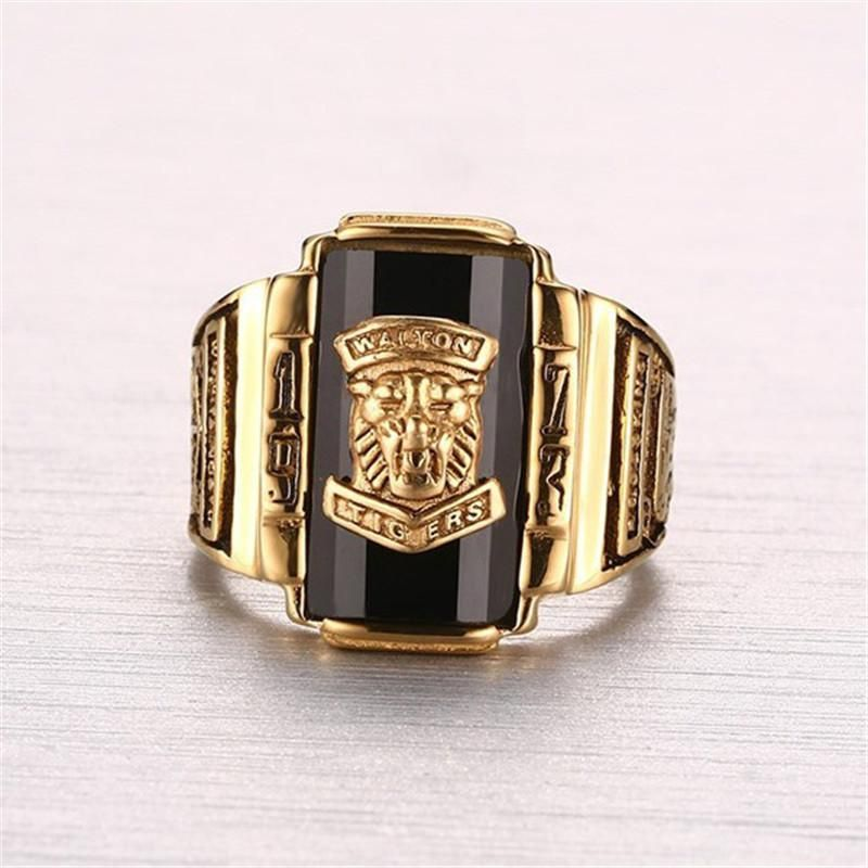 Cool Gold-Color Large Stone Rings