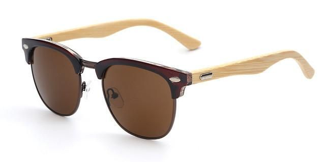 Half Metal Bamboo Sunglasses
