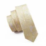 Men`s Tie Skinny Tie Locate Pattern Yellow Novelty Narrow Classic Slim Necktie Silk For Men Wedding Party Business
