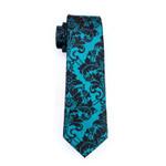 Men`s Tie 100% Silk Floral Print Jacquard Woven Necktie For Men Formal Wedding Party Business