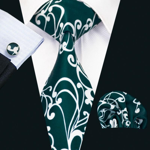 New Arrival Fashion Cotton Ties For Men High Quality Design Necktie Handkerchief Cufflinks Set For Wedding Party