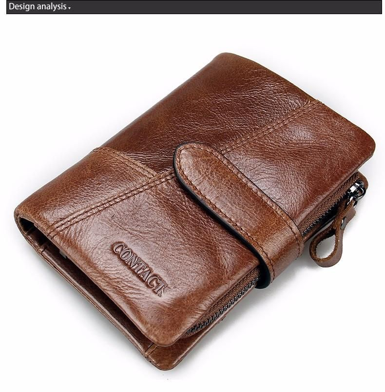 Top Quality New Arrival Genuine Leather Wallet Stand stone Men Wallets Luxury Dollar Price Vintage Male Purse Coin Bag