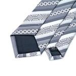 Men`s Tie Width 100% Silk Skinny Narrow Grey Striped Classic Jacquard Woven Necktie For Men Wedding Party Business