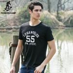 New Arrival Summer Men T-shirt Short Sleeve Cotton Tops O-neck Male Tee Plus Size for Big and Tall Dark Blue