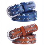 Fashion 100% Genuine Leather Belt woman Pearl decoration feminines Metal Pin Buckle Belts For Women