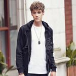 New arrival fashion hoodies men clothing top quality black zipper Sweatshirt men suit male tracksuit