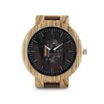 Mens Wooden Watches Quartz Watches Genuine Leather Strap Wood Wristwatches Vintage