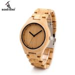 Men Dress Bamboo Watches Luxury Men's Top Designer Quartz Watch With Movement Bamboo Strap For Gift