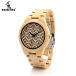 Naturally Minimalism Luxury Simplicity Bamboo Wooden Watches With All Wood Bamboo Straps