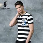New summer T shirt man clothing fashion striped short T-shirt male top quality stretch Tshirt