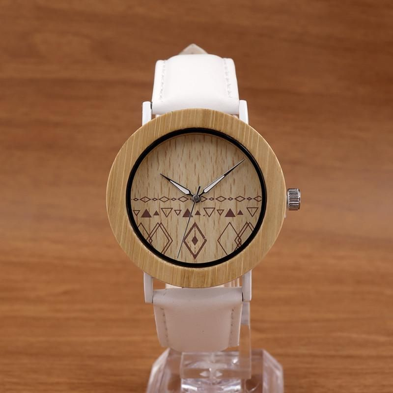 Unisex Top Designer Wristwatches Men's Women's Nature Bamboo Wooden Watches in Gift Boxes