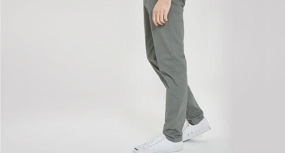 Men Pants Casual Fashion Gray Men Slim Fit Straight Trousers Cotton Mufti-size Optional New Arrival