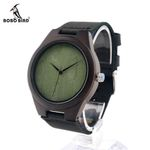New Limited Wooden Watches Men's Designer Watch Leather Band Quartz Watches for Men