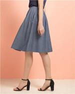 Women Skirt Long Denim Skirt Elastic Waistband Woman Skirts Spring Jeans Skirt Casual Jude Femme