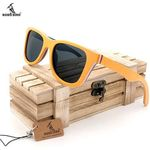 Wood Sunglasses Layered Skateboard Wooden Frame Square Style forWomen Men In Wood Box