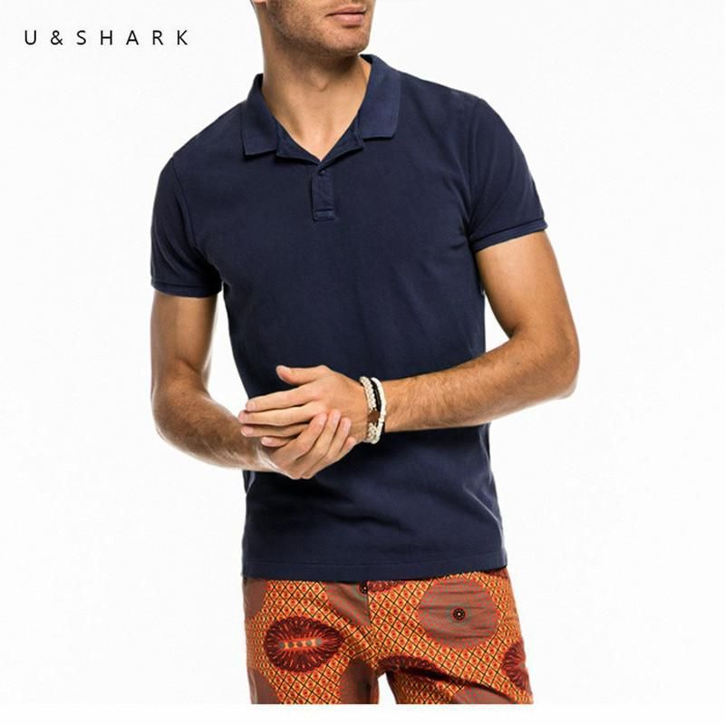 High Quality England Style Navy Blue Polo Shirt Men Fashion Cotton Quick Dry Short Sleeve Male Casual Polo Shirt