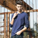 New fashion mens t shirt long sleeve streetwear fitness t-shirt men bodybuilding