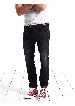 New autumn winter jeans men hole causal denim pants fashion trousers black slim fit