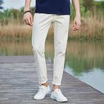 Casual Pants Men Cotton Pants For Men New Fashion Men Pants Slim Fit White Elastic male Trousers