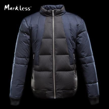 Men White Duck Down Jackets Clothing Mens Casual Man Patchwork Jackets Down Fashion Winter Coat