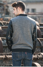 new Spring jacket men clothing fashion coat male Leather jacket baseball men bomber jacket for men