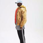 warm high  street orange jacket Hip Hop Suit Pullover Winter Jacket Men Coat fashion mens windbreaker