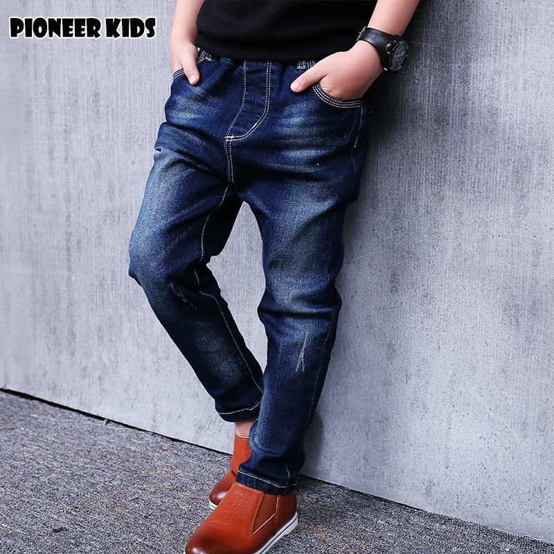 Kids Boy Jeans Limited Loose Solid Casual For Autumn Boys Jeans Children's Fashion For Denim Medium