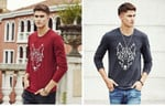 New arrival Men's Long Sleeve T Shirt Cotton Spring Fashion Casual tshirt t-shirt For Male