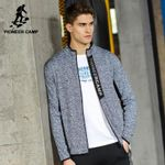 New jacket coat men clothing fashion zipper outerwear jacket men top quality stretch coat male