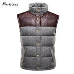 Men High-end Thick Down Vest Men's Winter Coat Vest Down Man Clothing Casual Waistcoat