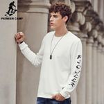 New O-Neck Hoodies Men Streetwear Sweatshirt Off White/Black Tracksuit Men Letters Printed Moletons