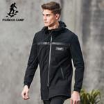 New Spring long jacket men clothing fashion black jacket coat male top quality casual men coat