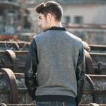 new autumn winter men jacket fashion cardigan coat Leather jacket baseball men bomber jacket