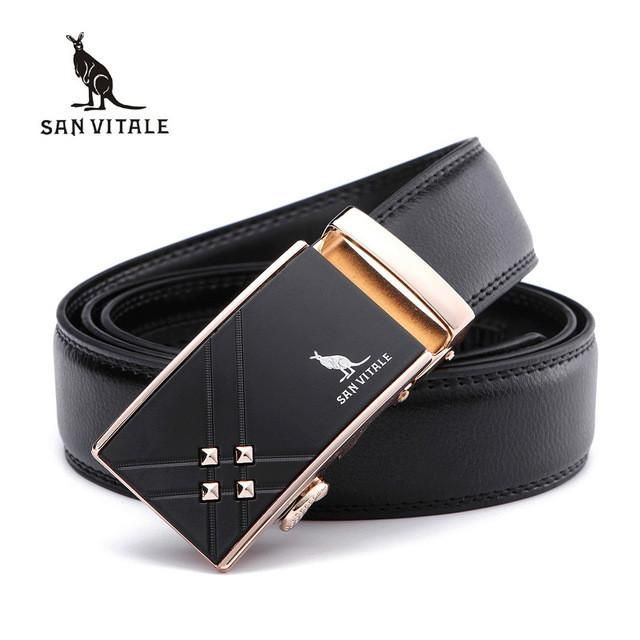 Men's Belts Genuine Leather Luxury Designer Automatic Buckle Straps Male for Dress Jeans