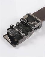 Men Split Leather Belt Automatic Buckle Quality Leather Belts Mens Label