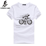 t shirt men cotton summer white black o-neck male tshirts fashion print pattern t-shirt  mens