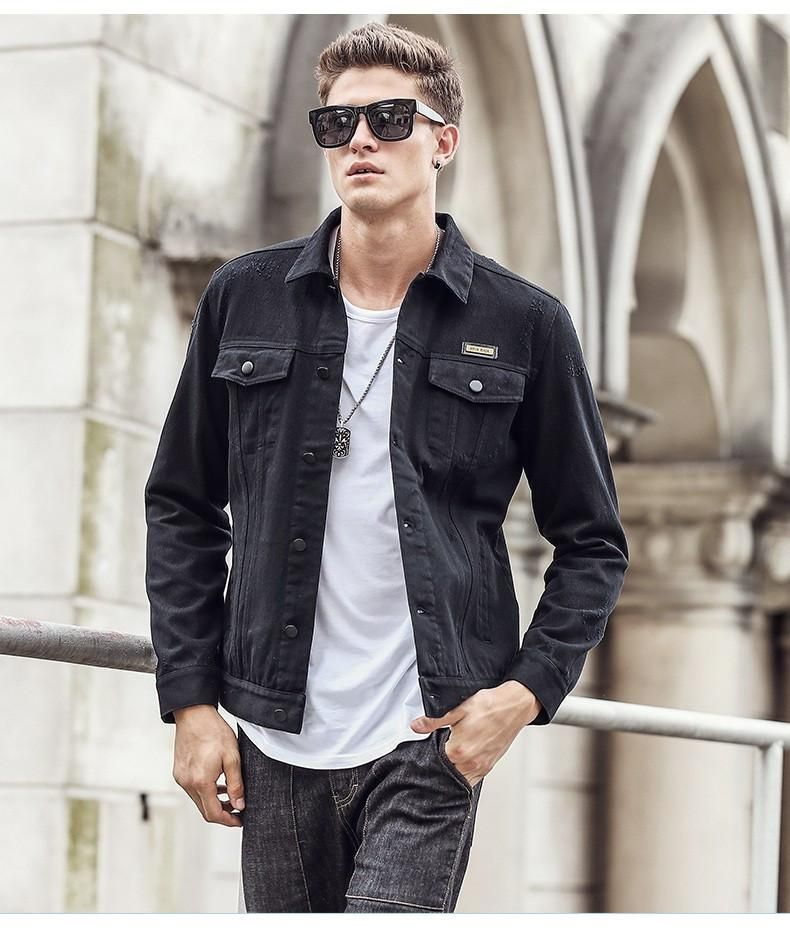Men Jacket  100% cotton New Coat Fashion Trench famous Casual Fit Tooling cargo Jacket
