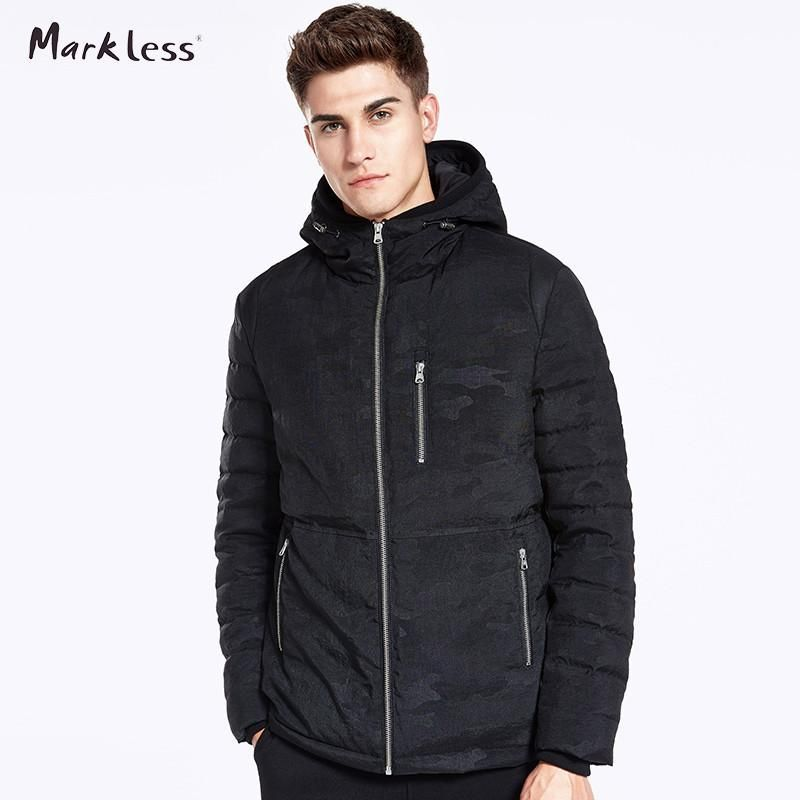 Thicker Camouflage Men Winter Hooded Coats Clothing Casual 90% White Duck Down Jackets Men Rib Sleeve Outwear