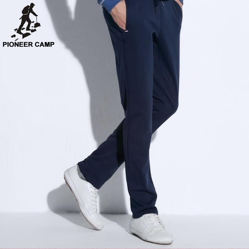 straight casual pants men new fashion male pants clothing top quality cotton comfortable trousers
