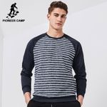 New arrival hoodies men clothing fashion striped sweatshirts male top quality 100% cotton tracksuit