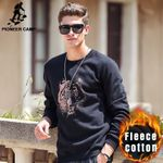 thick fleece hoodies men Autumn Winter clothing High quality New warm male Casual tiger Sweatshirt