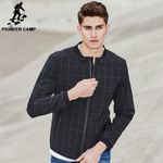 New Spring jacket men clothing fashion plaid jacket coat male top quality casual slim fit outerwear