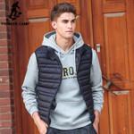 Sleeveless down Jacket Men male autumn Spring Casual Ultralight Down Vest Slim Men's Vest Waistcoat