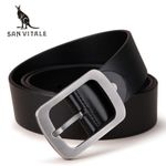 New Designer Men's Belts 100% Genuine Leather Strap Male Waistband Pin Buckles Fancy Vintage for Cowboy Jeans